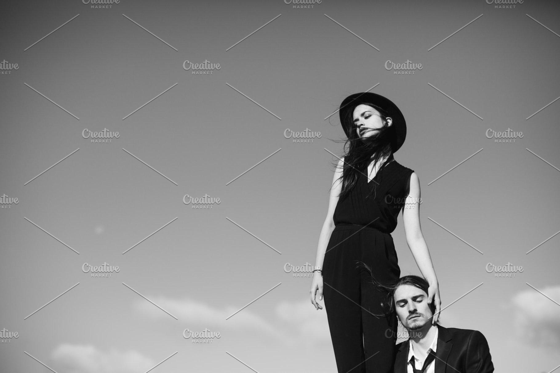 Fashion and emotional couple
