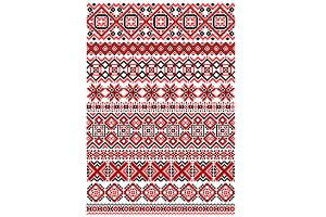Geometric ornament ethnic embroidery