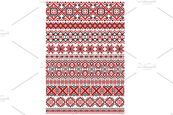 Geometric ornament ethnic embroidery patterns creative