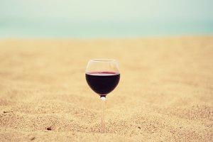 Wine on the sand