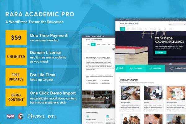Rara Academic Pro WordPress Theme
