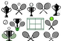 Tennis tournament icons