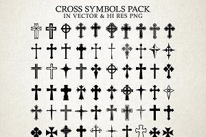 Cross Symbols Vector Pack