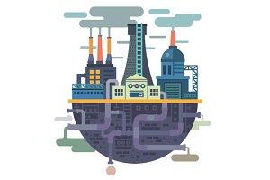 Industrial landscape. Factory