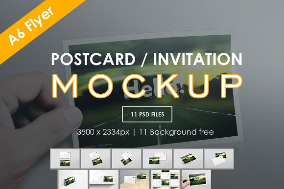 Postcard Invitation Muck-up