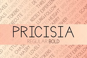 Pricisia Typeface
