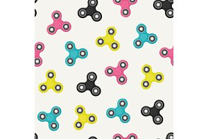 Fidget spinners seamless pattern.