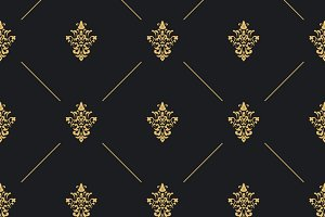 Seamless pattern golden decor