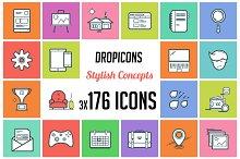Dropicons - Flat Line Stylish Icons