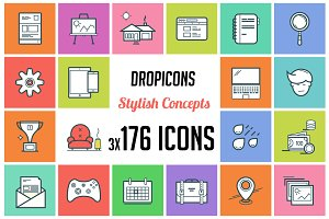 Dropicons - Flat Line Stylish Icons
