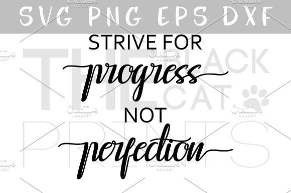 Strive For Progress SVG DXF EPS PNG