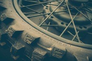 World War 2 Army Motorcycle Wheel