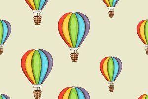 Background with color air balloon