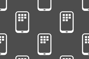 Seamless pattern with smart phone