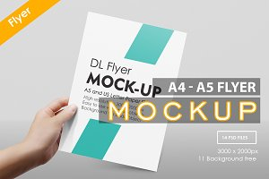 A4 - A5 Flyer Muck-up