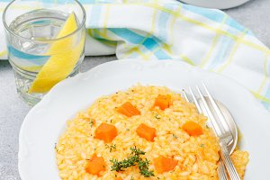 Risotto with pumpkin
