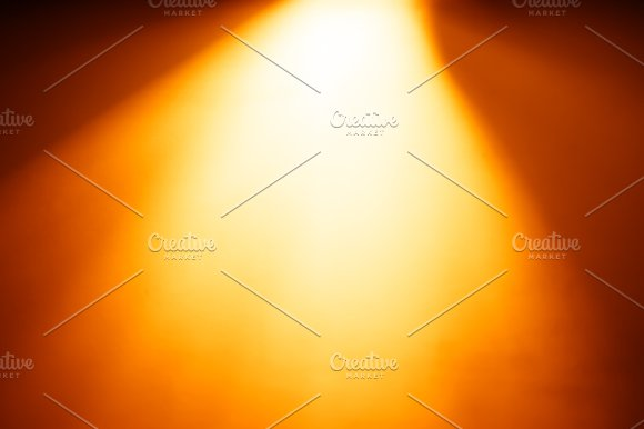 Diagonal Orange Light From Top Bokeh Background