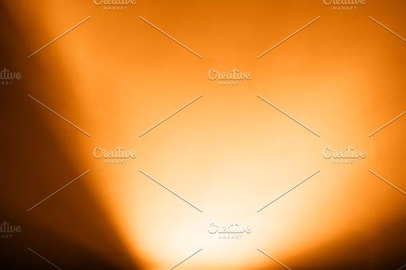 Diagonal Orange Light From Bottom Bokeh Background