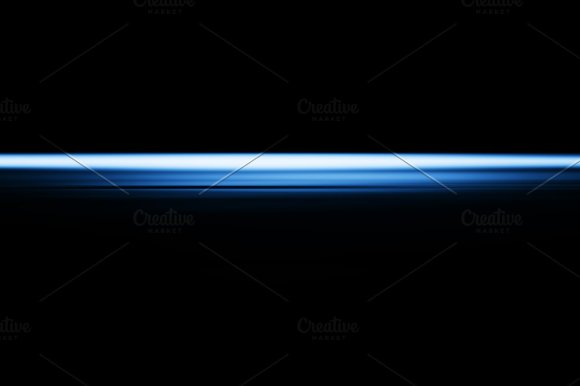 Horizontal Blue Blast Beam Illustration Background