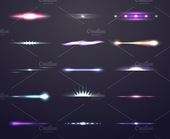 Vector Light With Lens Effect