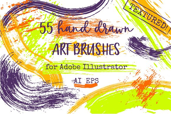 55 Vector Paint Brushes