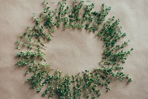 Vintage, Rustic Wreath Made w Thyme