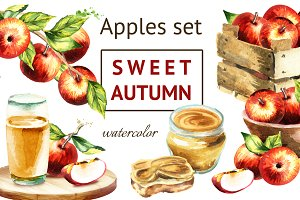 Sweet autumn. Apples set