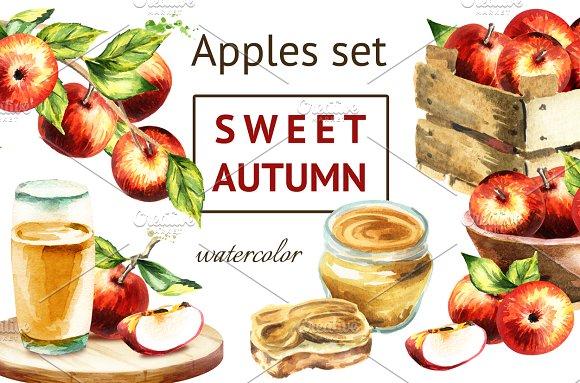 Sweet Autumn Apples Set
