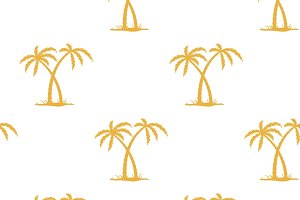 Pattern with palms
