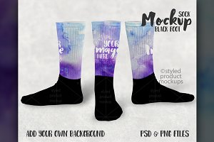 Sublimation sock mockup