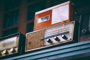 Vintage Wooden Radio