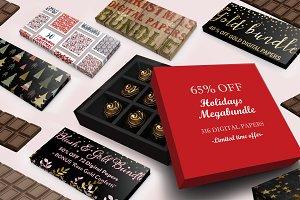 65% Off-316 Holiday Paper Megabundle