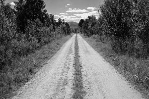 Vintage Norway countyside road background