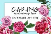 Caring Handwritten Font