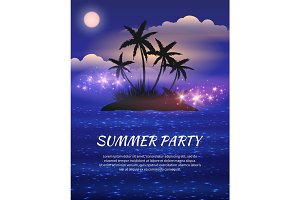 Summer night party flyer