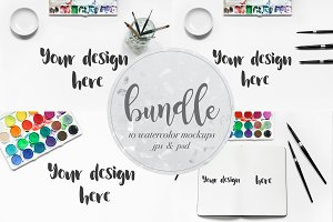 Watercolor Mockups