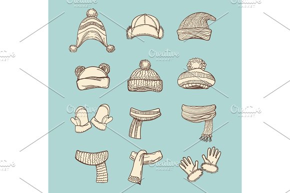Vintage Style Winter Accessories Set