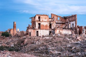 Destroyed building in Belchite,Spain