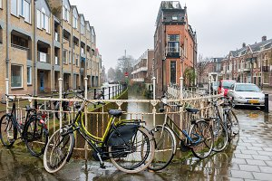Rainy day in Utrecht, Netherlands