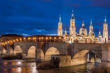 Basilica Pilar in Zaragoza , Spain