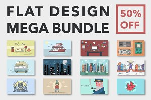 Flat Design MEGA Bundle - 50% OFF