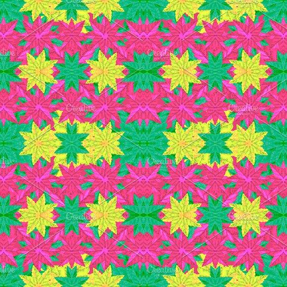 Colorful Stars Motif Seamless Pattern Design