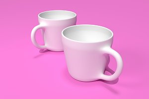Mugs 3D illustration