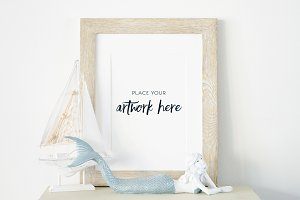 Mermaid Frame Stock Photo Mockup