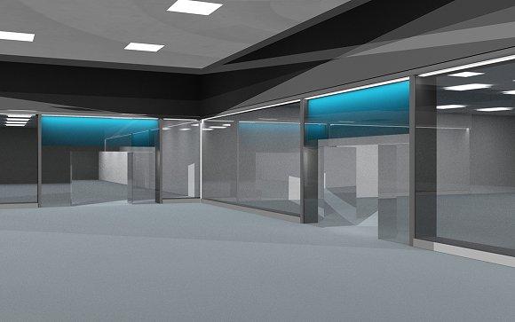 Shopping Mall 3D Render