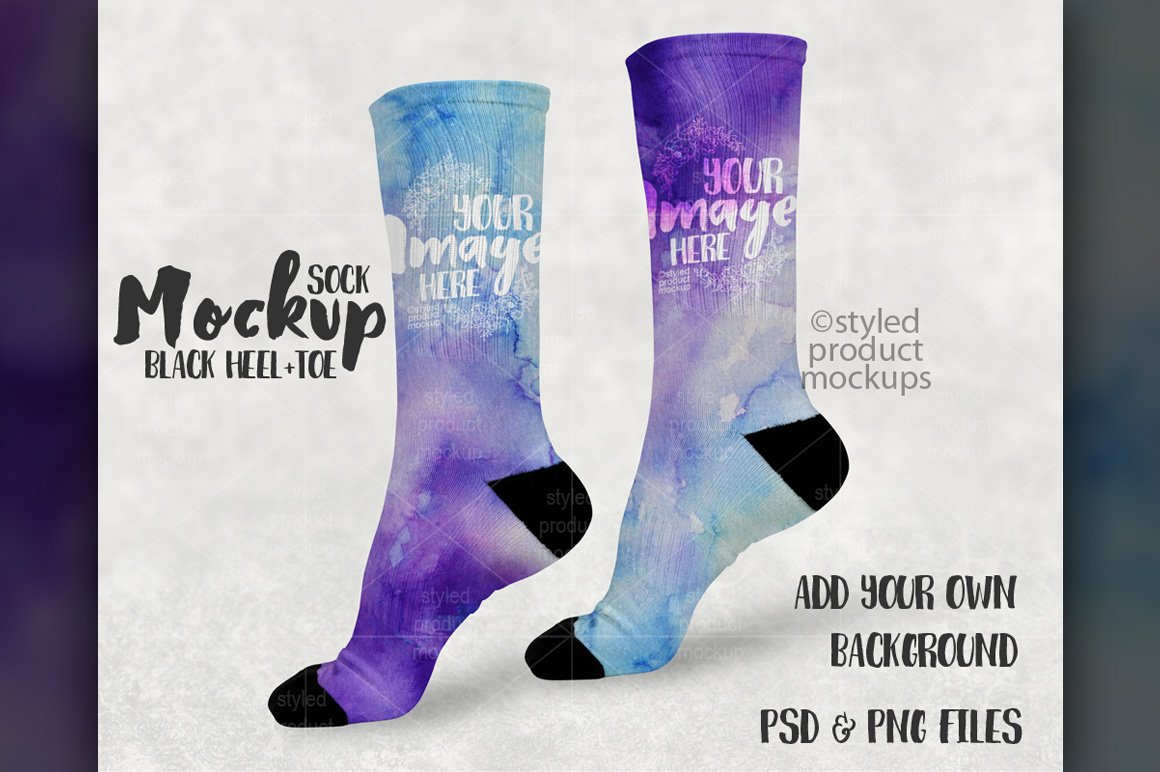 Sock design psd template