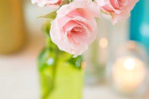 Tea roses in a vase