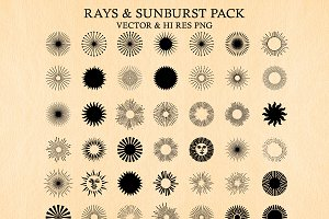 Light Rays & Sunburst Vector Pack