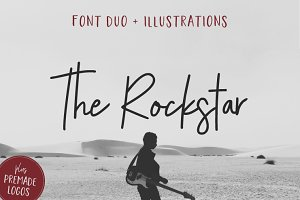 The Rockstar Font Duo (+Extras)