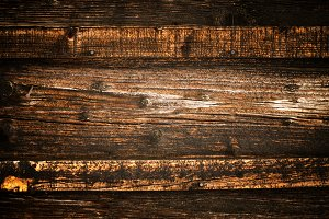 Natural weathered wooden fence